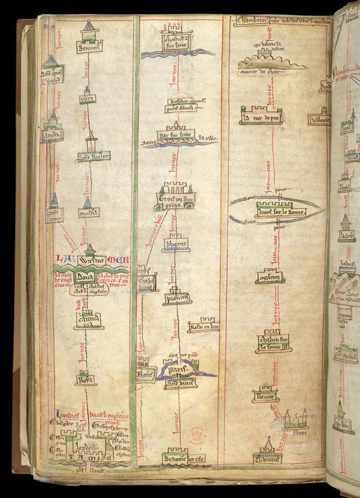 Itinerary From London To Chambery, In Matthew Paris's 'Book Of Additions'